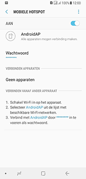 Samsung galaxy-a8-2018-sm-a530f-android-oreo - WiFi - Mobiele hotspot instellen - Stap 12