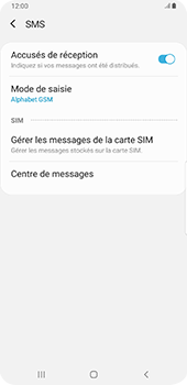 Samsung Galaxy S9 Plus - Android Pie - SMS - configuration manuelle - Étape 8