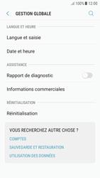 Samsung Galaxy A5 (2016) (A510F) - Android Nougat - Device maintenance - Retour aux réglages usine - Étape 6