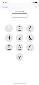 Apple iPhone X - Sécuriser votre mobile - Personnaliser le code PIN de votre carte SIM - Étape 8