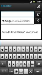Sony Xperia U - E-mail - Escribir y enviar un correo electrónico - Paso 6