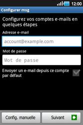 Samsung S5660 Galaxy Gio - E-mail - Configuration manuelle - Étape 5