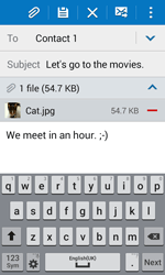 Samsung G318H Galaxy Trend 2 Lite - E-mail - Sending emails - Step 18