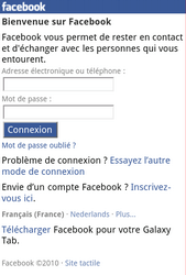 Samsung S3570 Chat 357 - Internet - Sites web les plus populaires - Étape 5