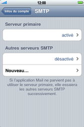 Apple iPhone 4 - E-mail - Configuration manuelle - Étape 13