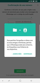 Samsung Galaxy S9 Plus - Aplicações - Como configurar o WhatsApp -  6