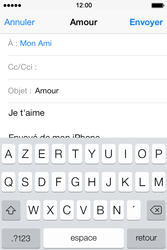 Apple iPhone 4S - E-mails - Envoyer un e-mail - Étape 8