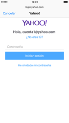 Apple iPhone 6 iOS 10 - E-mail - Configurar Yahoo! - Paso 7