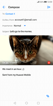 Huawei Mate 10 Pro - Email - Sending an email message - Step 15