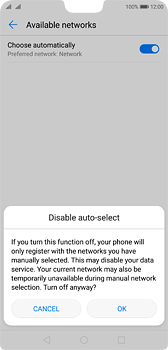 Huawei P20 - Network - Manually select a network - Step 7
