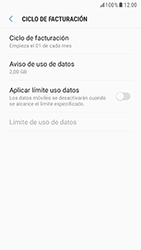 Samsung Galaxy S6 - Android Nougat - Internet - Ver uso de datos - Paso 11