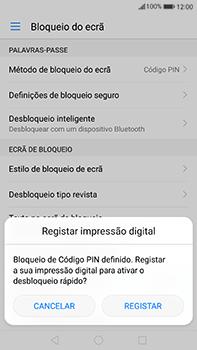 Huawei Mate 9 - Segurança - Como ativar o código de bloqueio do ecrã -  10