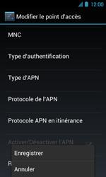 Acer Liquid Glow E330 - Internet - Configuration manuelle - Étape 15