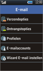 Samsung S5620 Monte - E-mail - Handmatig instellen - Stap 14