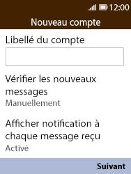 Nokia 8110 Banana - E-mail - Configuration manuelle - Étape 14