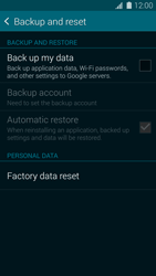 Samsung Galaxy S5 mini - Device maintenance - How to do a factory reset - Step 6