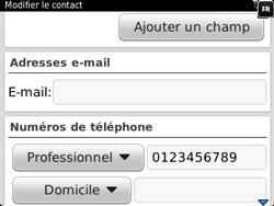 BlackBerry 9320 - Contact, Appels, SMS/MMS - Ajouter un contact - Étape 11