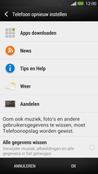 HTC One - Instellingen aanpassen - Fabrieksinstellingen terugzetten - Stap 6