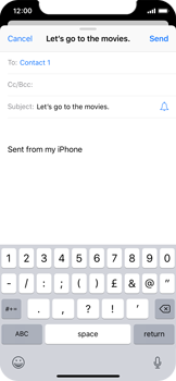 Apple iPhone X - iOS 12 - Email - Sending an email message - Step 7