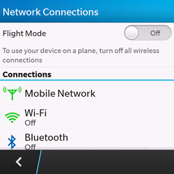 BlackBerry Q10 - Internet - Enable or disable - Step 5