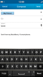 BlackBerry Z30 - Email - Sending an email message - Step 10