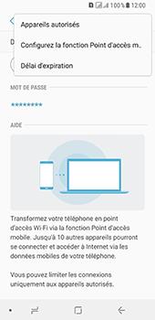Samsung Galaxy A8 - Internet et connexion - Partager votre connexion en Wi-Fi - Étape 8