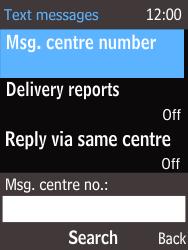 Nokia 220 - SMS - Handmatig instellen - Stap 8