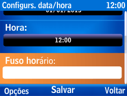 Nokia Asha 302 - Funções básicas - Como configurar data e hora - Etapa 8