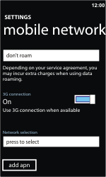 Nokia Lumia 710 - Network - Usage across the border - Step 8