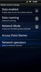 Sony Ericsson Xperia Neo - Network - Usage across the border - Step 6