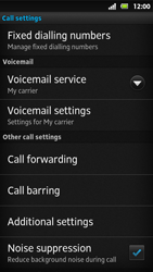 Sony MT27i Xperia Sola - Voicemail - Manual configuration - Step 5