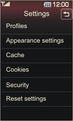 LG KP500 Cookie - Settings - Configuration message received - Step 19