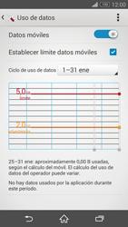 Sony Xperia Z3 - Internet - Ver uso de datos - Paso 10