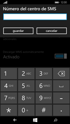 Microsoft Lumia 640 - Mensajería - Configurar el equipo para mensajes de texto - Paso 7