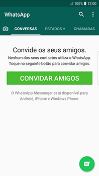 Samsung Galaxy S7 Edge - Android Oreo - Aplicações - Como configurar o WhatsApp -  15