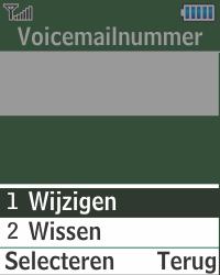 Samsung E1270 - Voicemail - Handmatig instellen - Stap 9