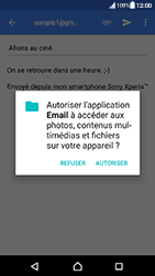 Sony Xperia XA - Android Nougat - E-mail - envoyer un e-mail - Étape 10