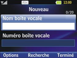 LG C320 InTouch Lady - Messagerie vocale - Configuration manuelle - Étape 7