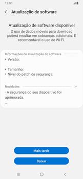 Samsung Galaxy A20 - Funções básicas - Como atualizar o software do seu aparelho - Etapa 7