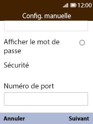 Nokia 8110 Banana - E-mail - Configuration manuelle - Étape 13