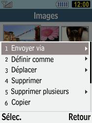 Samsung C3590 - Photos, vidéos, musique - Envoyer une photo via Bluetooth - Étape 6
