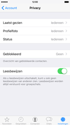 Apple iPhone 6 met iOS 9 (Model A1586) - Privacy - Maak WhatsApp veilig en beheer je privacy - Stap 16
