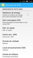 Alcatel Pixi 3 - SMS - Como configurar o centro de mensagens -  7