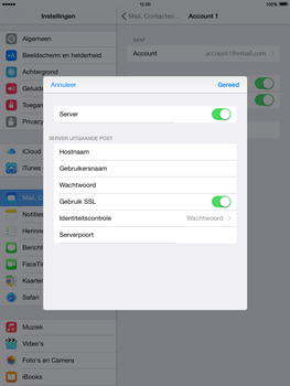 Apple iPad mini retina iOS 8 - E-mail - Account instellen (IMAP met SMTP-verificatie) - Stap 20