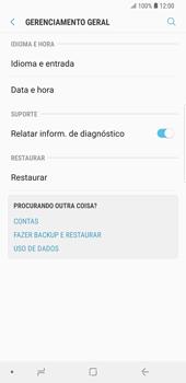 Samsung Galaxy S9 Plus - Funções básicas - Como restaurar as configurações originais do seu aparelho - Etapa 5