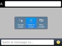 BlackBerry 9720 - Contact, Appels, SMS/MMS - Envoyer un SMS - Étape 6