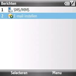 Samsung B7330 Omnia Pro - E-mail - handmatig instellen - Stap 4