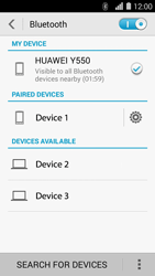 Huawei Ascend Y550 - Bluetooth - Pair with another device - Step 7