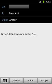 Samsung N7000 Galaxy Note - E-mail - envoyer un e-mail - Étape 7