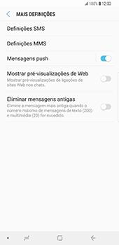 Samsung Galaxy S9 Plus - SMS - Como configurar o centro de mensagens -  7